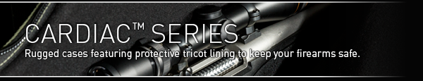 Rugged gun cases featuring protective tricot lining to keep your firearms safe.